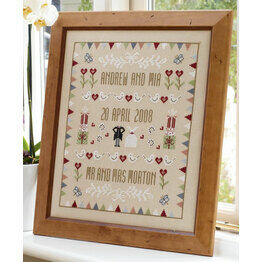 Horseshoe Wedding Sampler Cross Stitch Kit