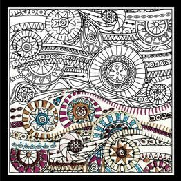 Design Works Waves - Zenbroidery Fabric Pack