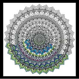 Design Works Mandala - Zenbroidery Fabric Pack