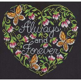 Always & Forever Cross Stitch Kit