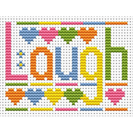 Sew Simple Laugh Cross Stitch Kit