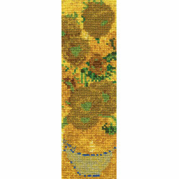 Van Gogh Sunflowers Bookmark Cross Stitch Kit