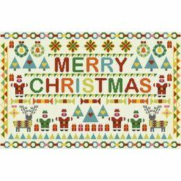 Merry Christmas Patchwork Cross Stitch Kit