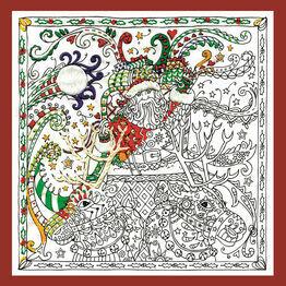 Zenbroidery - Santa's Sleigh Fabric Pack