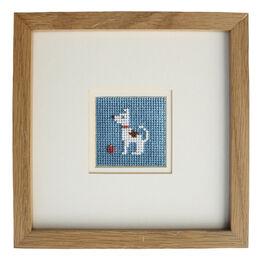 Percy The Dog Mini Beadwork Embroidery Card Kit