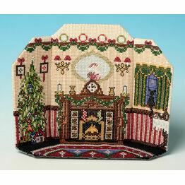 The Night Before Christmas 3D Room Scene Cross Stitch Kit