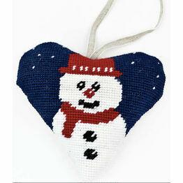 Snowman Tapestry Heart Kit