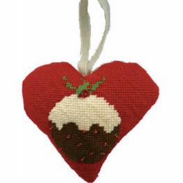 Christmas Pudding Tapestry Heart Kit