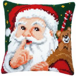 Santa Chunky Cross Stitch Cushion Panel Kit