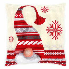 Christmas Elf 1 Chunky Cross Stitch Cushion Panel Kit