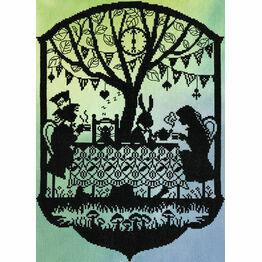Mad Hatter's Tea Party (P) Cross Stitch Kit
