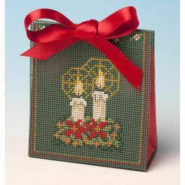 Christmas Candles Bag 3D Cross Stitch Kit