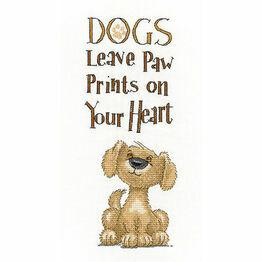 Paw Prints Cross Stitch Kit