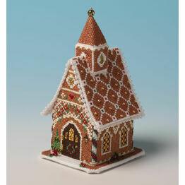 Gingerbread Chapel 3D Cross Stitch Kit
