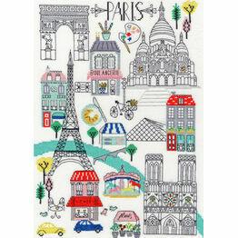 Love Paris Cross Stitch Kit