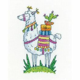 Llama Cross Stitch Kit by Karen Carter