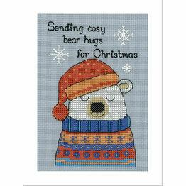 Barny Polar Bear Cross Stitch Christmas Card Kit