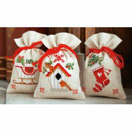 Christmas Wish Pot Pourri Bags Set of 3 Cross Stitch Kits