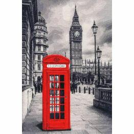 London Motive Cross Stitch Kit (with glow in the dark threads)