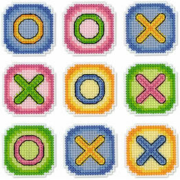 Noughts & Crosses Magnetic Game Cross Stitch Kit