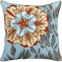 Azure Flower 2 Cross Stitch Cushion Panel Kit