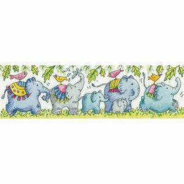 Elephants On Parade Cross Stitch Kit