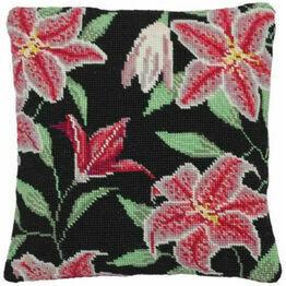 Stargazer Lily Herb Pillow Tapestry Kit