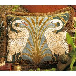 Swans Cushion Panel Needlepoint Kit