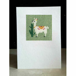 Lulu Llama Mini Beadwork Embroidery Card Kit