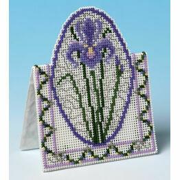Purple Iris 3D Cross Stitch Card Kit