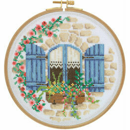 French Cottage Cross Stitch Hoop Kit