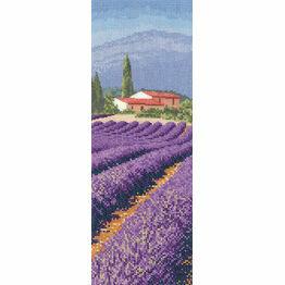 Lavender Field Cross Stitch Chart