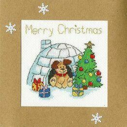 Winter Woof Cross Stitch Christmas Card Kit