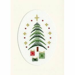 All Wrapped Up Cross Stitch Christmas Card Kit