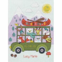 Little Adventurer Birth Record Cross Stitch Kit