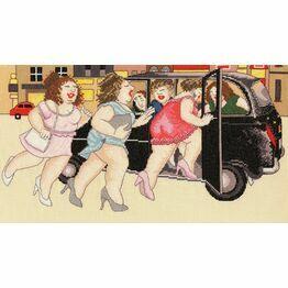 Beryl Cook - Taxi! Cross Stitch Kit
