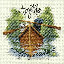 Together Dogs Cross Stitch Kit