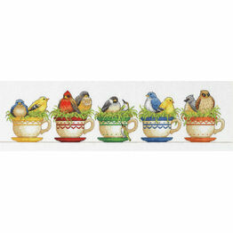 Teacup Birds Cross Stitch Kit