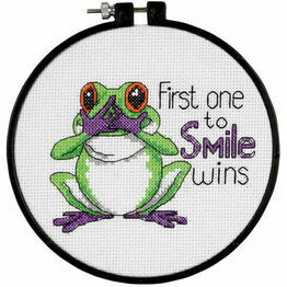 First One To Smile Learn-A-Craft Counted Cross Stitch Kit With Hoop