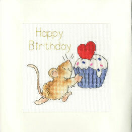 Sprinkles On Top Cross Stitch Card Kit