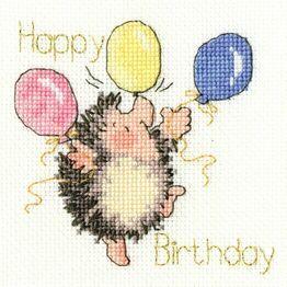 Birthday Balloons Cross Stitch Card Kit