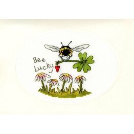 Bee Lucky Cross Stitch Card Kit