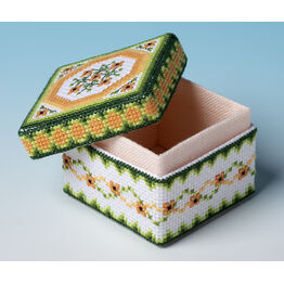 Black Eyed Susan Box 3D Cross Stitch Kit - perfect introduction to 3D stitching