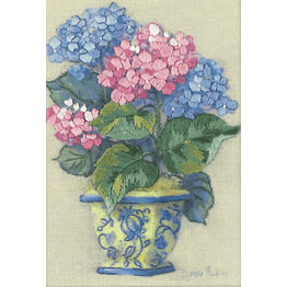 Colourful Hydrangea Embroidery Kit