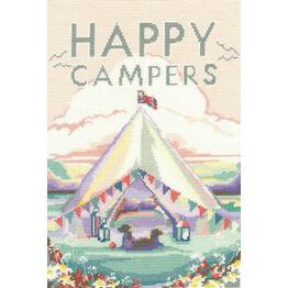 Vintage Camping Cross Stitch Kit