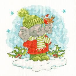 Elly's Snow Day Cross Stitch Kit