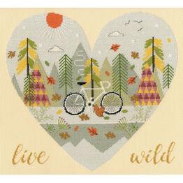 Live Wild Cross Stitch Kit