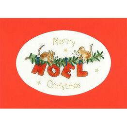 The First Noel Cross Stitch Christmas Card Kit