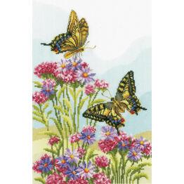 Swallowtails Cross Stitch Kit