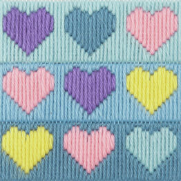 Hearts Anchor 1st Childrens Long Stitch Kit